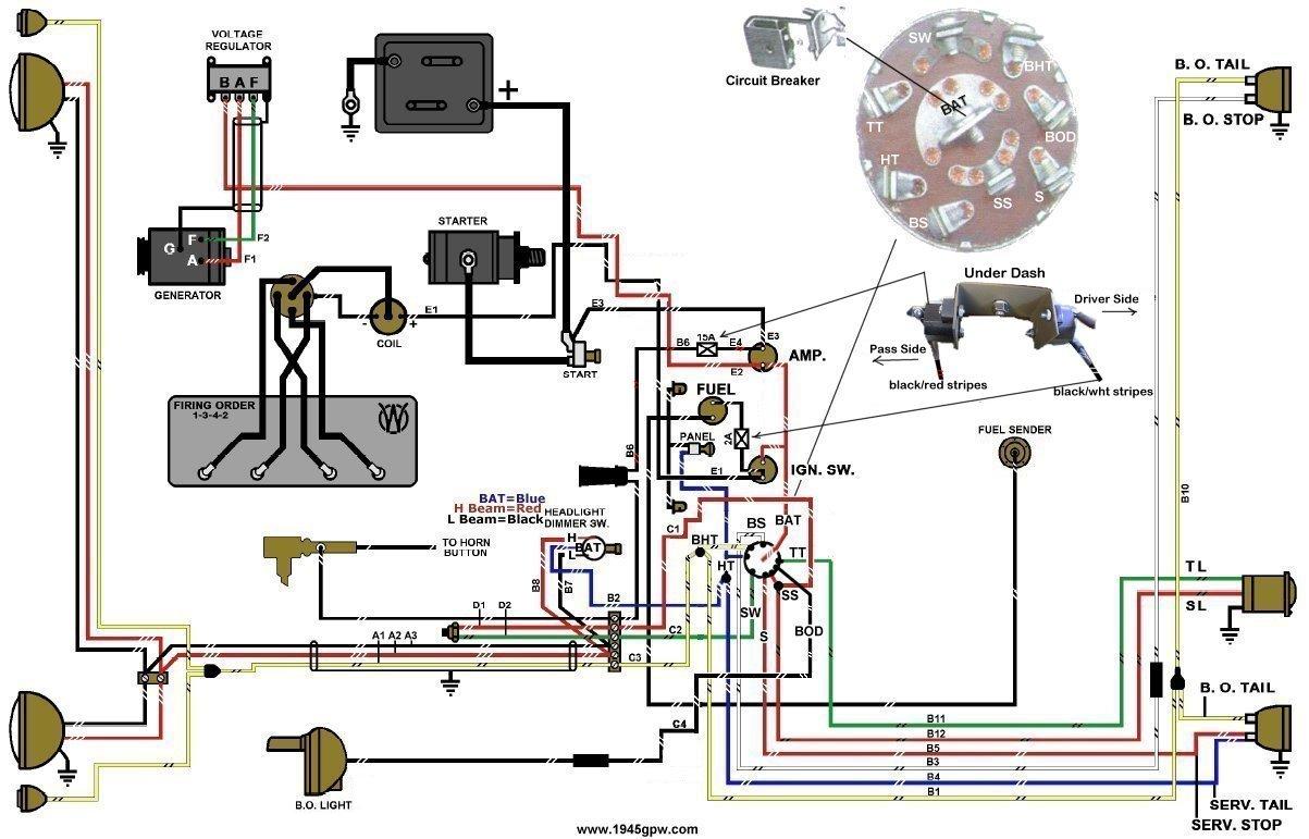 [WRG-3991] 1955 Cj5 Wire Harness Layout