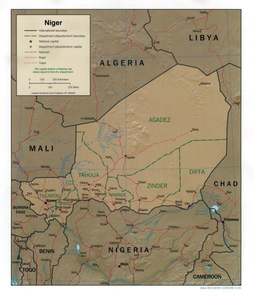 Niger Maps   Perry Casta    eda Map Collection   UT Library Online Map Collection