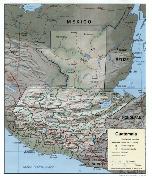 Guatemala Maps   Perry Casta    eda Map Collection   UT Library Online Guatemala Maps