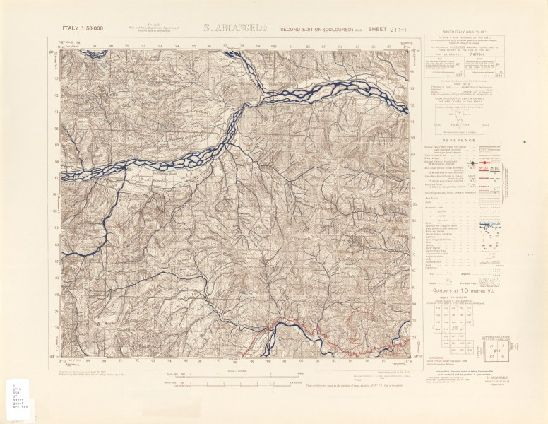 Italy AMS Topographic Maps   Perry Casta    eda Map Collection   UT         Arcangelo