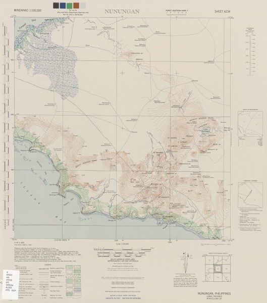 Mindanao AMS Topographic Maps   Perry Casta    eda Map Collection   UT         Nunugan