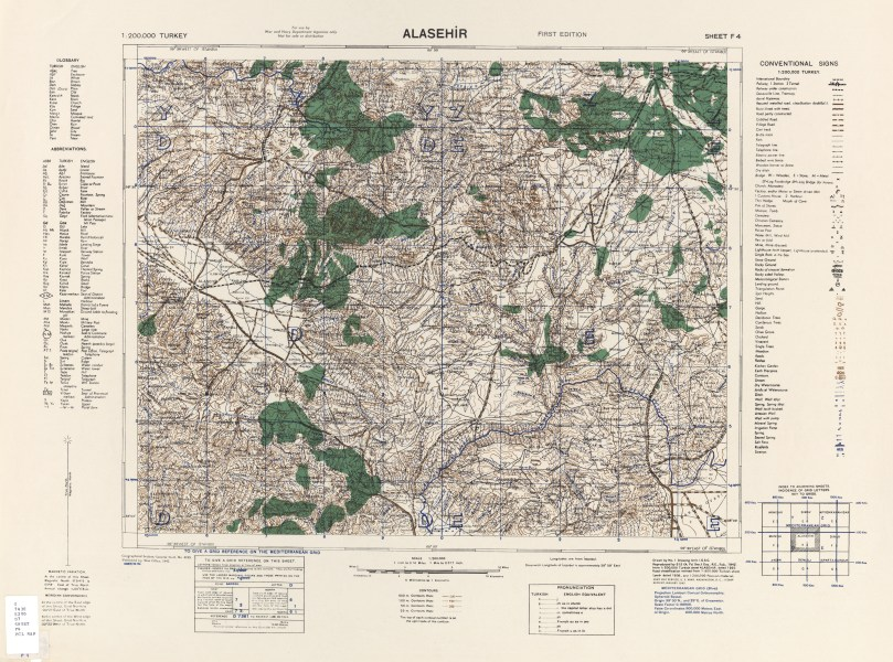 Turkey AMS Topographic Maps   Perry Casta    eda Map Collection   UT         Alasehir