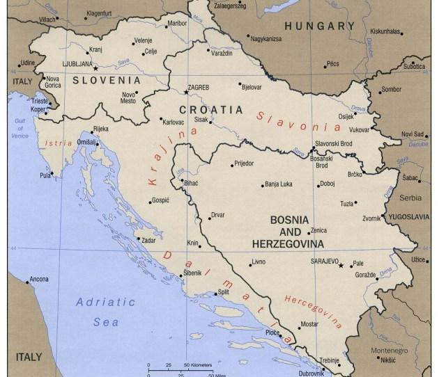 Balkan States West Bosnia Croatia Slovenia