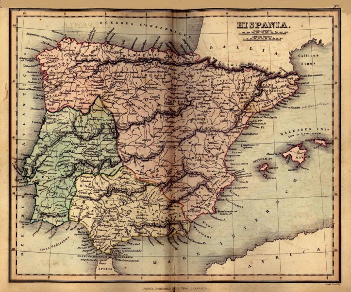Spain Maps   Perry Casta    eda Map Collection   UT Library Online Hispania  Ancient Spain