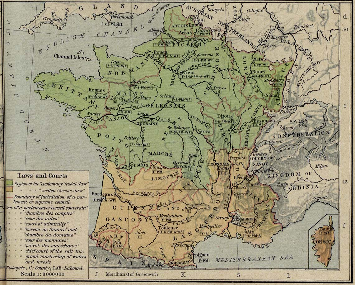 France Maps   Perry Casta    eda Map Collection   UT Library Online  275K   France 1789 Laws and