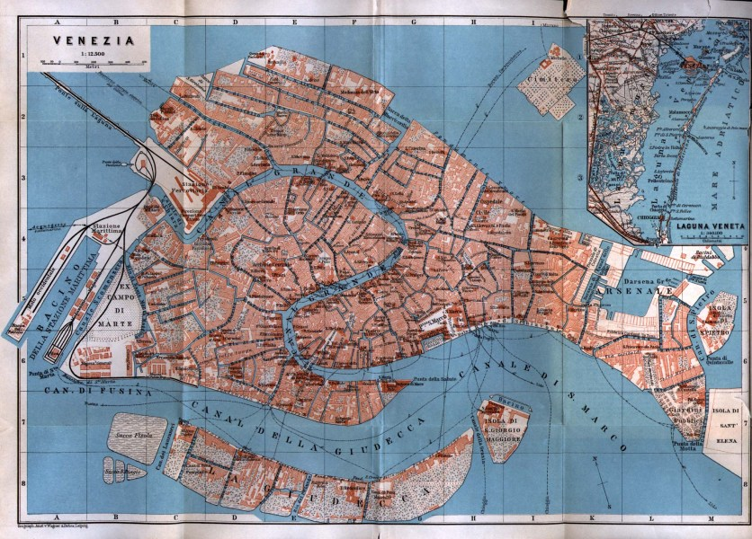 Italy Maps   Perry Casta    eda Map Collection   UT Library Online     Venezia  Venice  1913 Baedeker s Northern Italy Handbook For Travellers    Fourteenth Remodelled