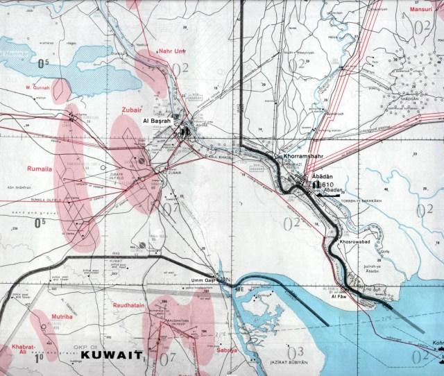 Al Basrah Region Iraq Including Northern Kuwait