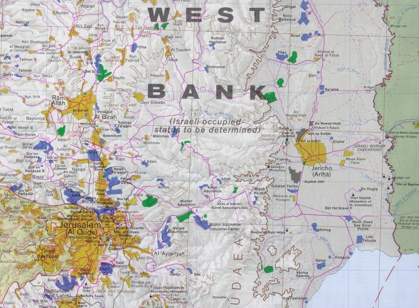 West Bank and Gaza Maps   Perry Casta    eda Map Collection   UT     West Bank and Gaza Maps