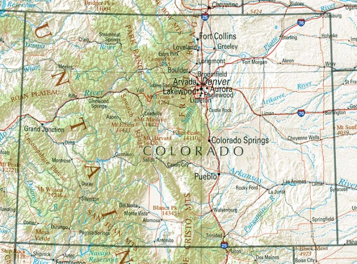 Colorado Maps   Perry Casta    eda Map Collection   UT Library Online     Colorado  reference map