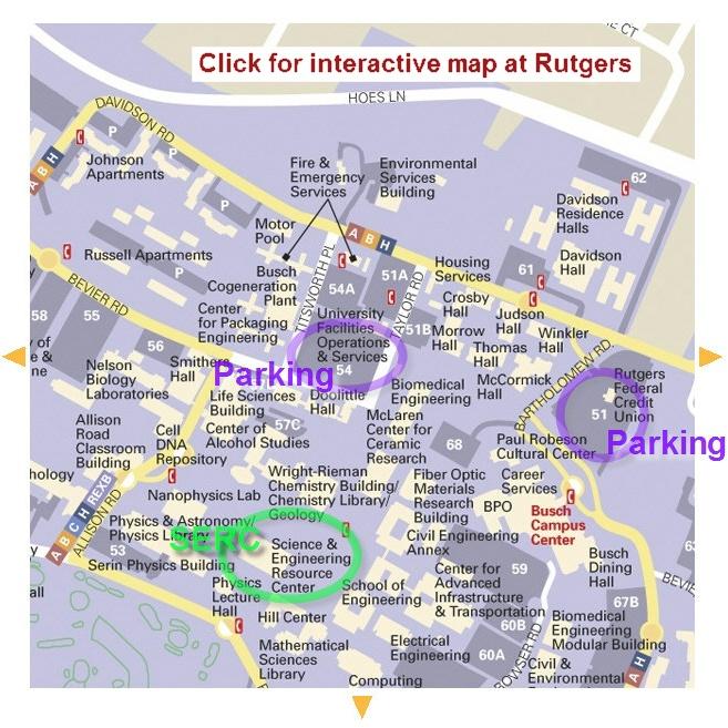 University Busch Campus Rutgers Map