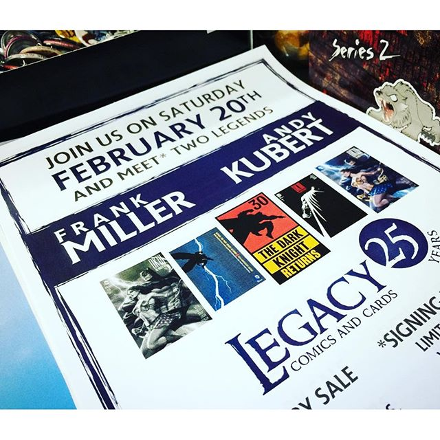 #frankmiller #andykubert #legacycomics25