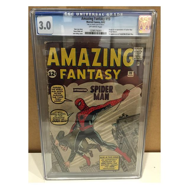 Back from #cgc !  #amazingfantasy15 1st #spiderman