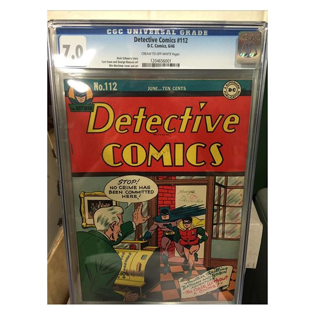 #goldenagecomics back from #cgc #detectivecomics #112 #batman