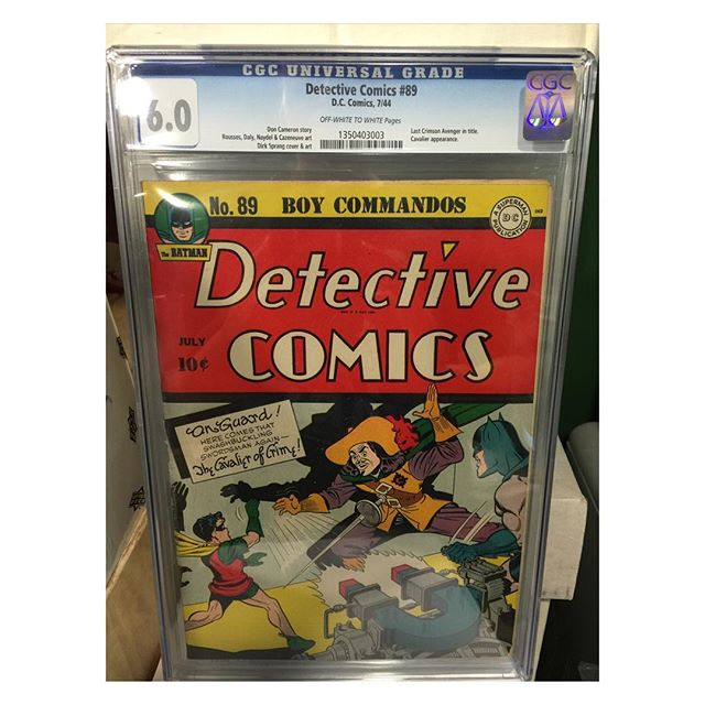 #goldenagecomics back from #cgc #detectivecomics #89 #batman