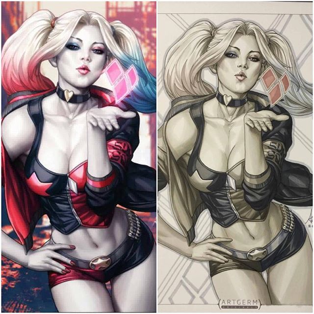 Our exclusive Harley Quinn #1 Legacy Edition Variant with cover art by Stanley #artgerm Lau is now on presale at legacycomics.com #dcrebirth #harleyquinn #suicidesquad #dc