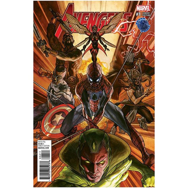 The next great Legacy Edition Variant with the exclusive fantastic painted art of Simone Bianchi for Now Avengers #1. Presale begins on Wednesday 10/5/16 @ 11:00am on legacycomics.com. #marvel #marvelcomics #marveluniverse #avengers #simonebianchi #spiderman #vision #thor #wasp #hercules #samwilson #captainamerica