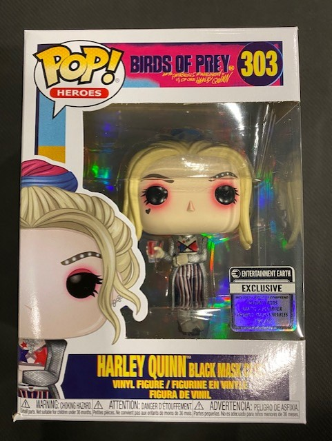 Funko Pop Birds Of Prey Harley Quinn Black Mask Club Ee Exclusive Figure With Collectible Card