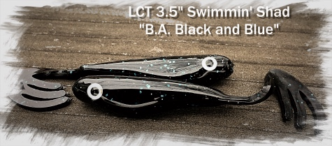 LCT 3.5 Swimmin Shad B.A. Black and Blue 475x209