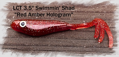 LCT 3.5 Swimmin Shad Red Amber Hologram 400x193