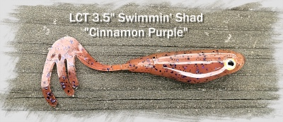 LCT 3.5 Swimmin Shad cinnamon purple 400x172