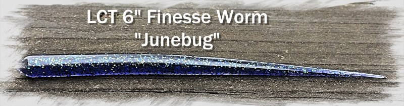 LCT 6.0 Finesse Worm Junebug 2885x756