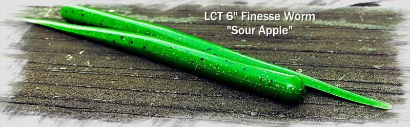 LCT 6.0 Finesse Worm Sour Apple 3140x972