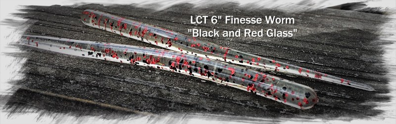 LCT 6.0 Finesse Worm Black and Red Glass 3228x1016