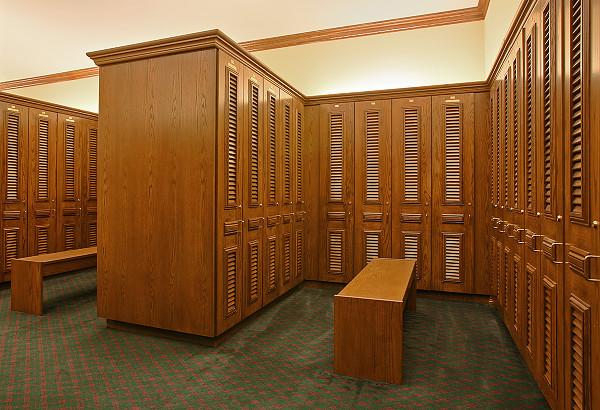 Country Club Golf Lockers   Upscale Custom Wood Lockers