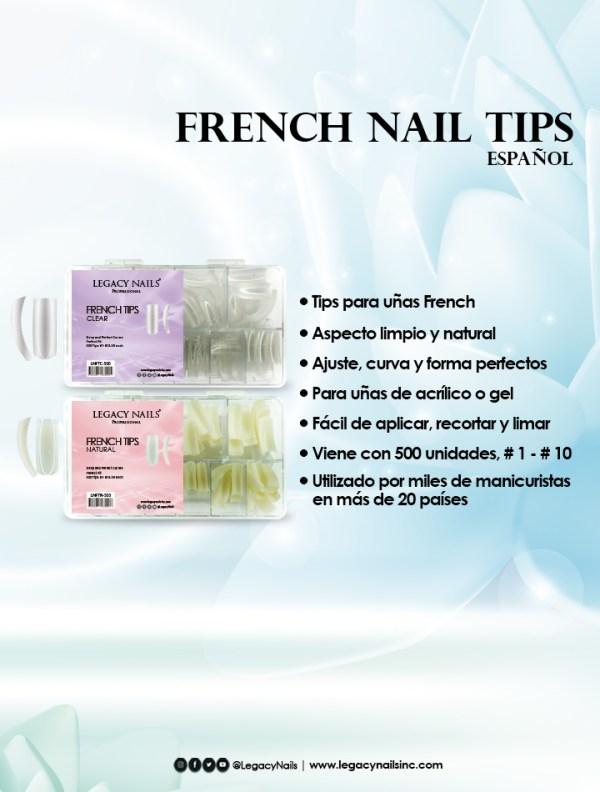 french nail tips esp