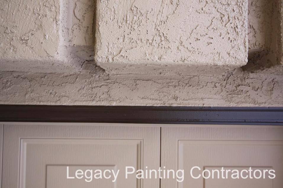 Detailed garage trim painting