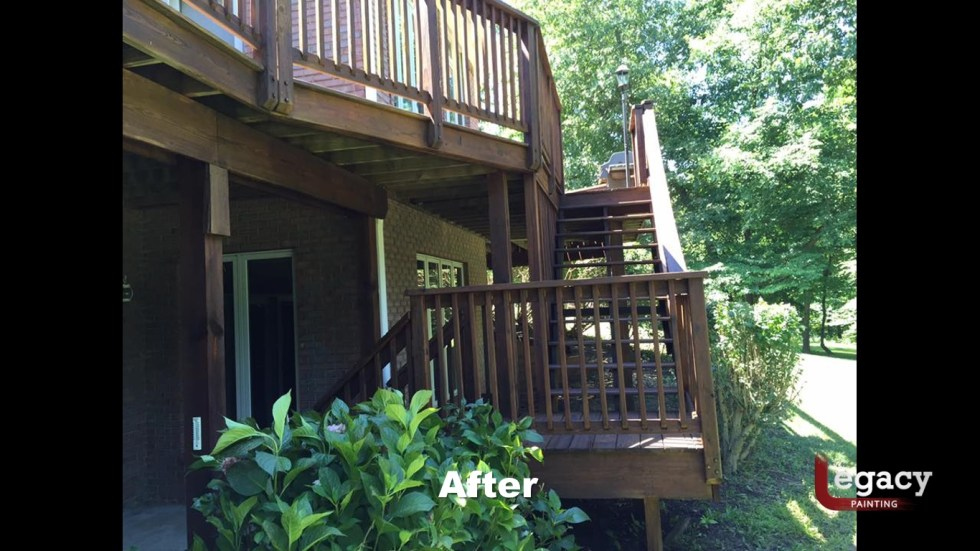 Deck Pressure Wash And Stain 5