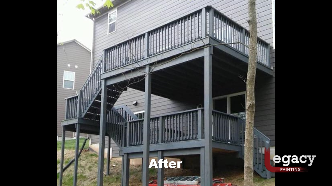Solid Color Deck Staining – Indianapolis