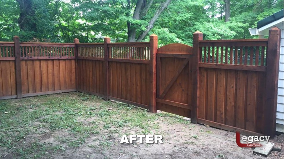 New Decorative Fence Staining 4