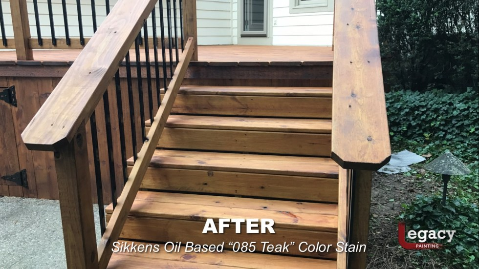 carmel new deck staining - teak 7 - Legacy Painting