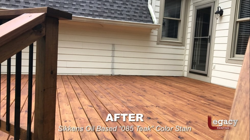 Carmel New Deck Staining - Teak 8