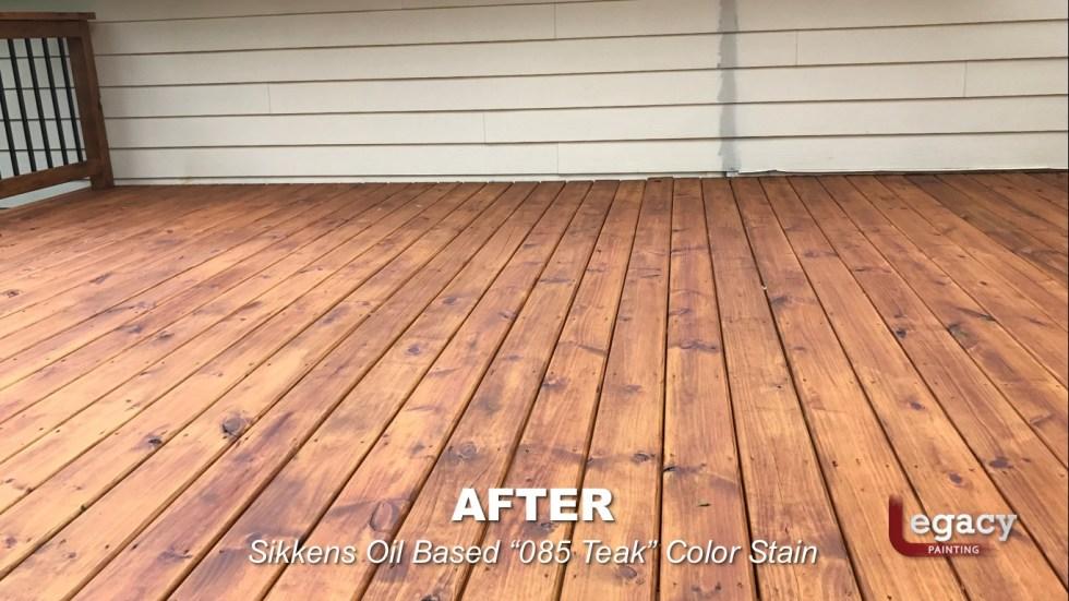 Carmel New Deck Staining - Teak 9