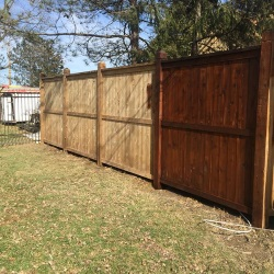fence staining 3
