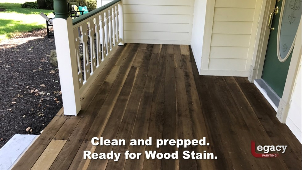 Redwood Deck Staining - Carmel Indiana 5