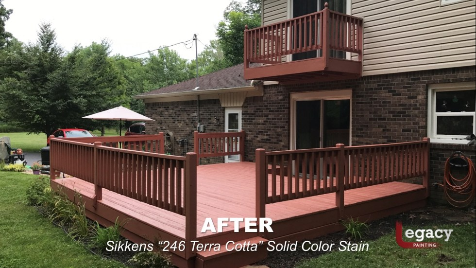 Deck Coating Replaced With Solid Stain 10
