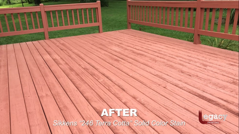 Deck Coating Replaced With Solid Stain 12