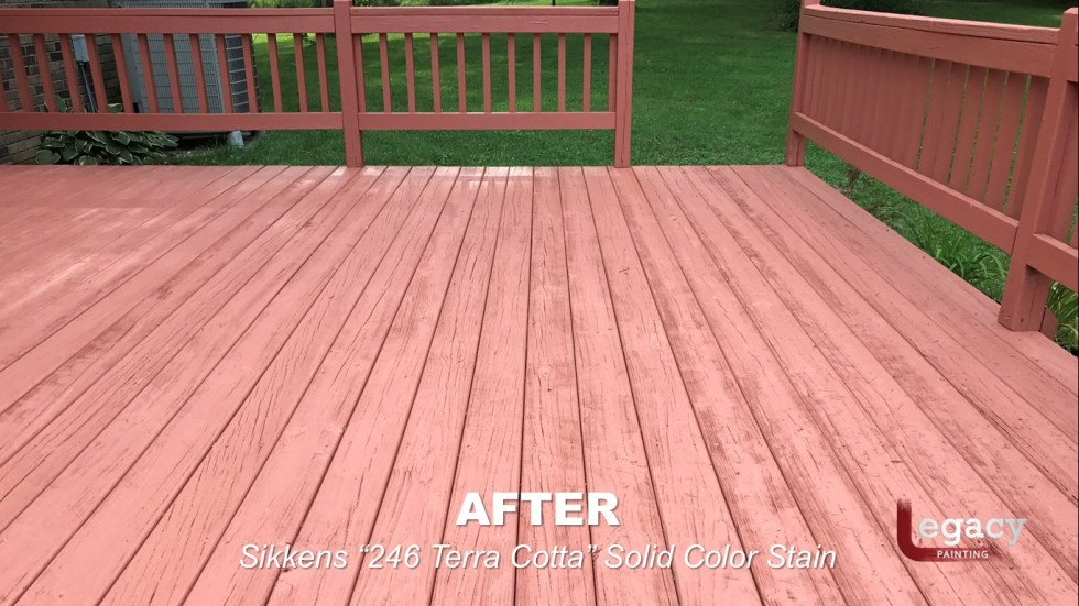 Deck Coating Replaced With Solid Stain 14