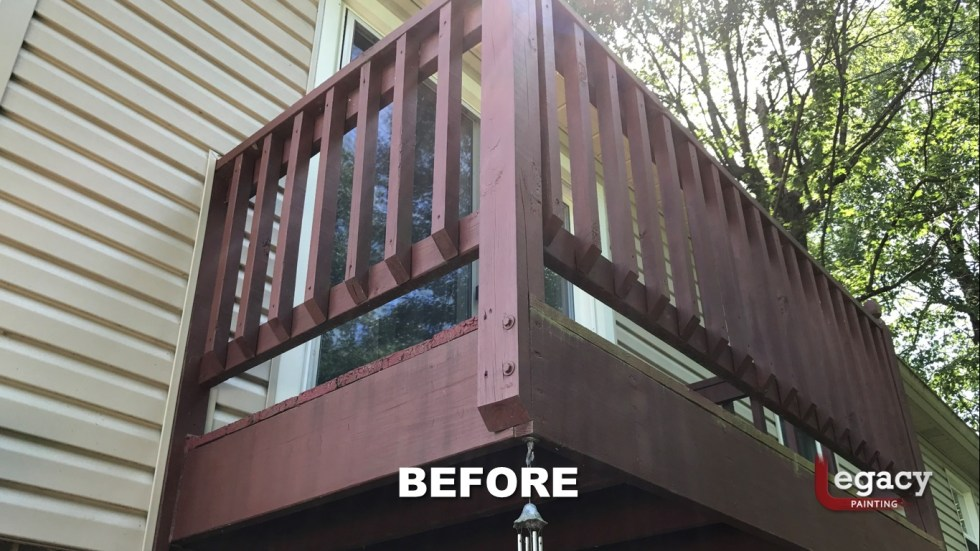 Deck Coating Replaced With Solid Stain 6