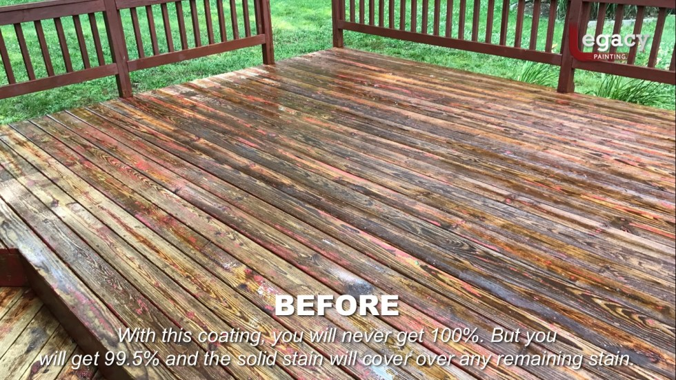 Deck Coating Replaced With Solid Stain 8