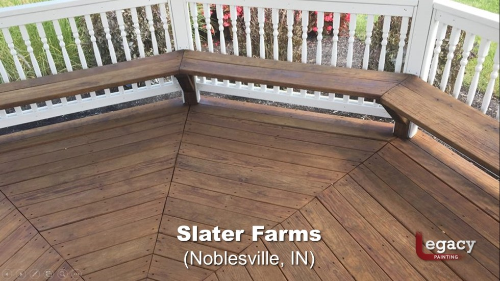 Commercial Gazebo Fence Staining Painting - Noblesville 4