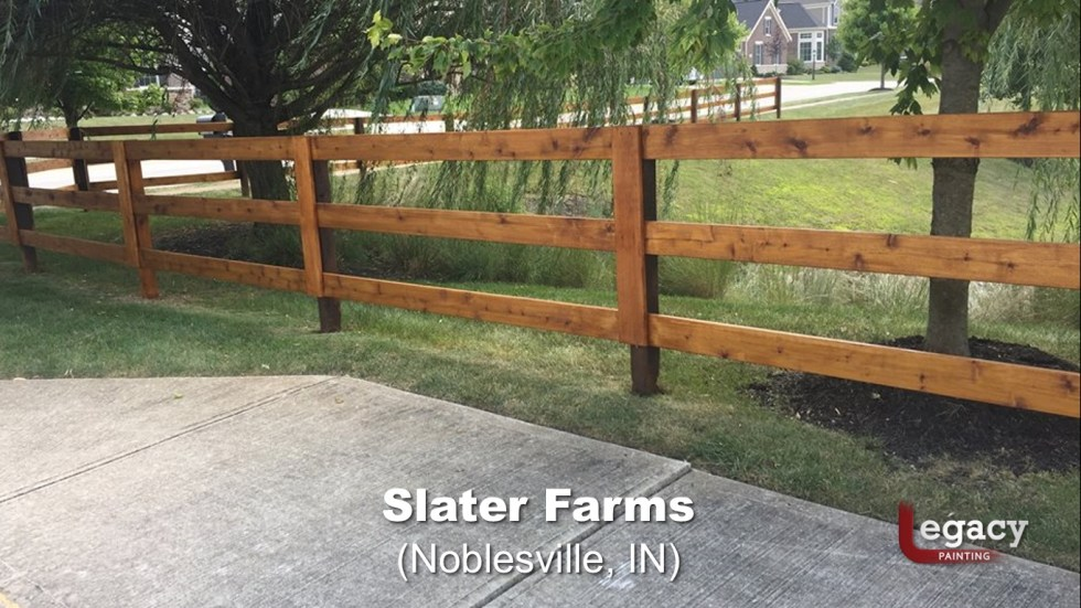 Commercial Gazebo Fence Staining Painting - Noblesville 7