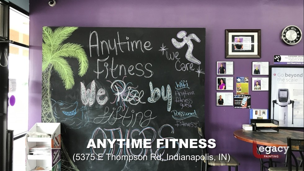 Commercial Painting Services - Anytime Fitness Indianapolis 8