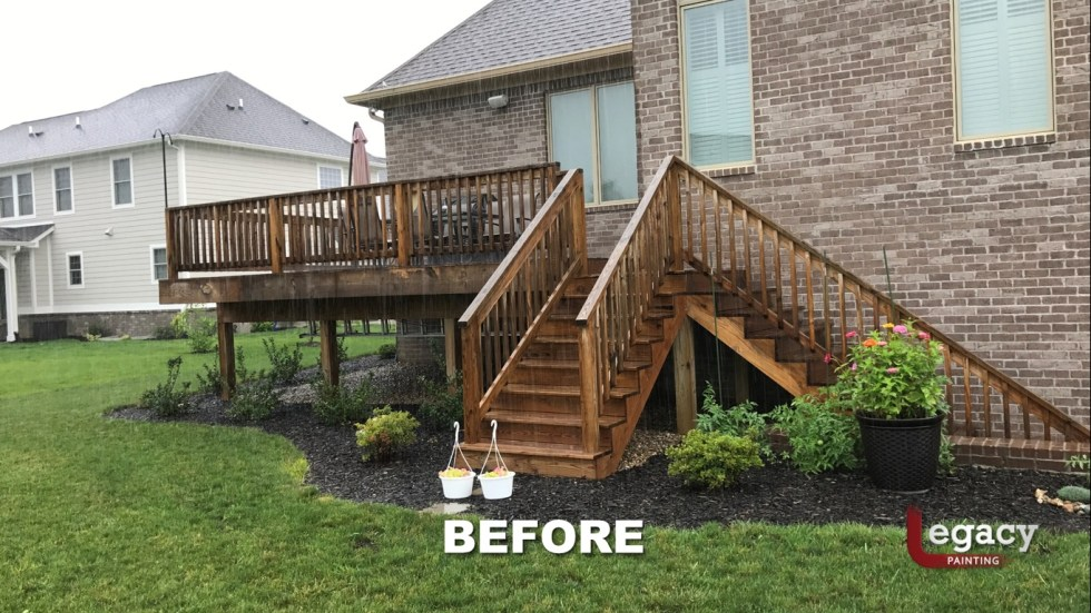 Deck Staining Fishers Indiana Sikkens Teak 2