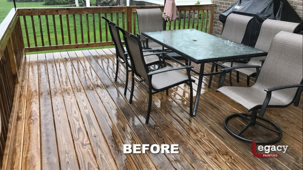 Deck Staining Fishers Indiana Sikkens Teak 3