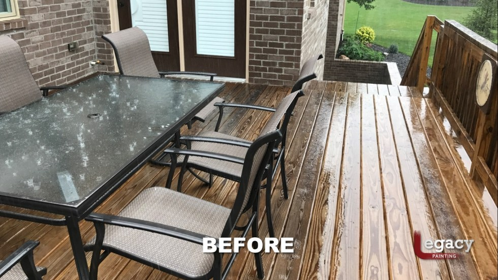 Deck Staining Fishers Indiana Sikkens Teak 4