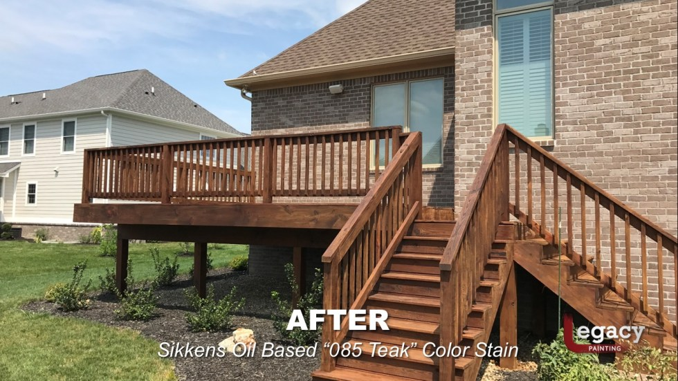 Deck Staining Fishers Indiana Sikkens Teak 6